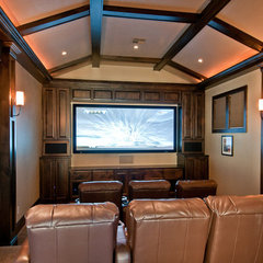 media room by dC Fine Homes & Interiors