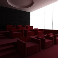Modern Home Theater by Ahmed Barakat