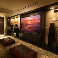modern media room by Pepe Calderin Design- Miami Modern Interior Design
