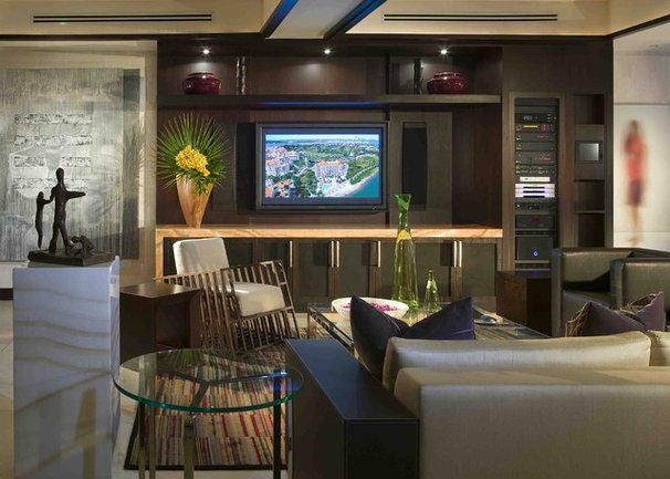 Modern Home Theater by Pepe Calderin Design- Modern Interior Design