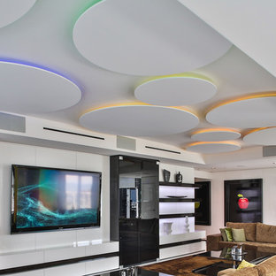 Miami Penthouse Mancave Gameroom Ceiling Lighting