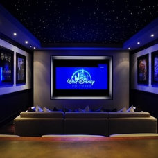 Traditional Home Theater by Michael Molthan Luxury Homes Interior Design Group