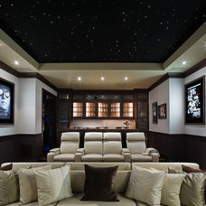Traditional Home Theater by MICHAEL MOLTHAN LUXURY HOMES
