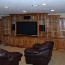 Traditional Home Theater by Pine Canyon Homes