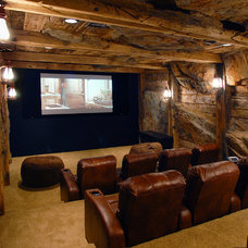 Rustic Home Theater by Man Caves Audio Video