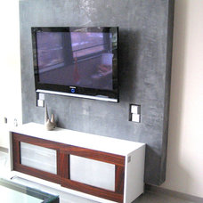 Modern Home Theater Minimalist Entertainment unit
