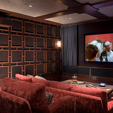 Traditional Home Theater by Harte Brownlee & Associates Interior Design