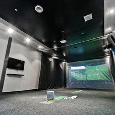 Contemporary Home Theater by Universal Stretch Ceilings