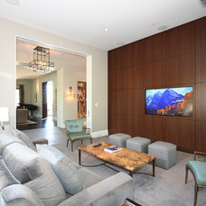modern media room by Abramson Teiger Architects