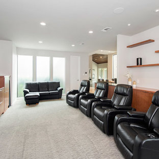 Home theater - modern home theater idea in DC Metro