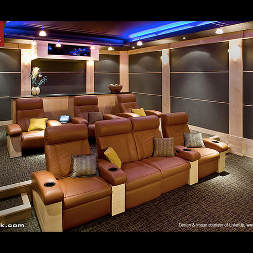 Home Theater Pictures Home Theater Room Seating Modern: Modular Seating