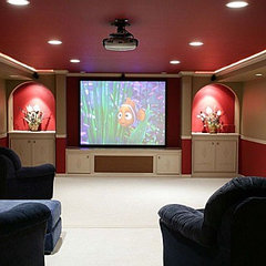 modern media room Home Theater