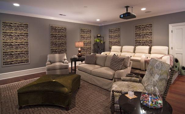 Modern Home Theater by Kelly Cruz Interiors