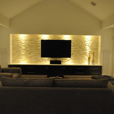 Modern Home Theater by Modern Custom Homes, LLC