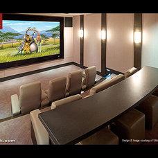 Modern Home Theater Modern Media Room