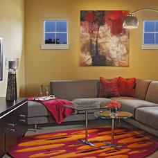 Modern Home Theater by Dawn Hearn Interior Design