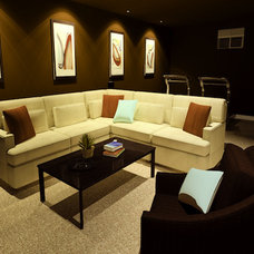 Modern Home Theater by decorate IT online