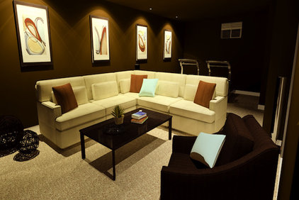 modern media room by decorate IT online
