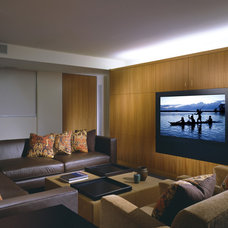 Contemporary Home Theater by Tech Tonic LLC