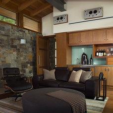 Contemporary Home Theater by Sutton Suzuki Architects