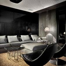 Contemporary Home Theater by LUKAS MACHNIK INTERIOR DESIGN