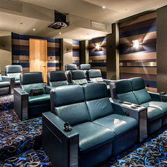 contemporary media room by Stotler Design Group