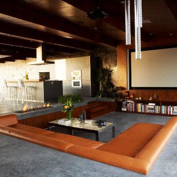 Modern Sunken Home Theater