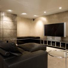 Modern Home Theater by jodi foster design + planning