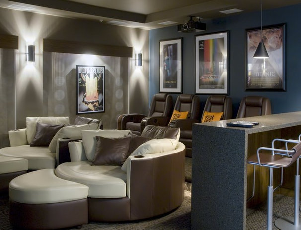 Contemporary Home Theater by site lines architecture inc.