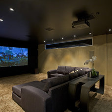 Contemporary Home Theater by Kendle Design Collaborative