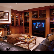 Traditional Home Theater by Giffin & Crane General Contractors, Inc.