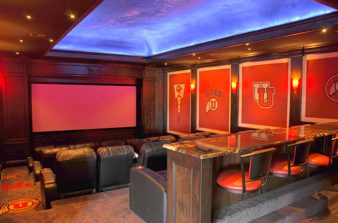 Traditional Home Theater by Nerve