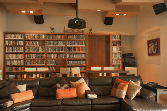 Contemporary Home Theater by Aurelio Vazquez