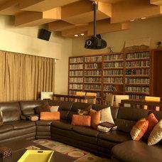 Contemporary Home Theater by Aurelio Vazquez