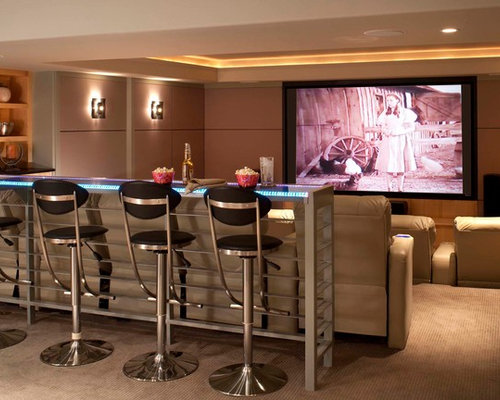 Renovated Home Theater Bar Design Ideas & Remodel Pictures | Houzz