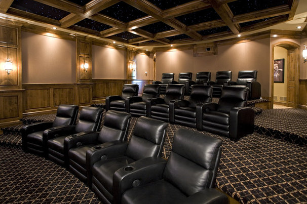 Traditional Home Theater by John Kraemer & Sons