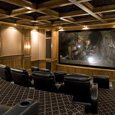 traditional media room by John Kraemer & Sons