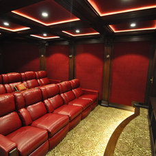 Mediterranean Home Theater by Keystone Cabinetry Inc.   Since 1984