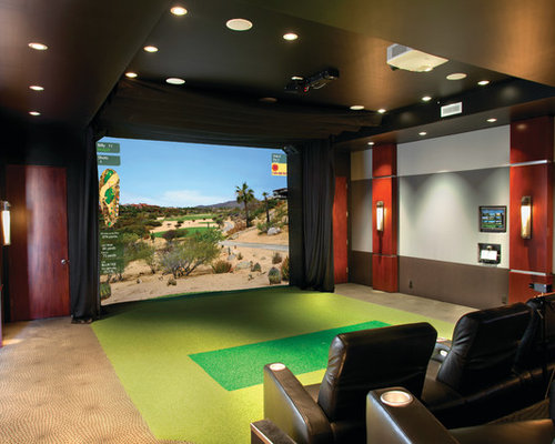 Best Golf Simulation Room Design Ideas Remodel Pictures