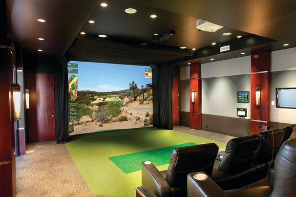 Traditional Home Theater Multi-Purpose Media Room