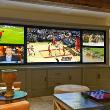 Rustic Home Theater by iSYS Integrated Systems