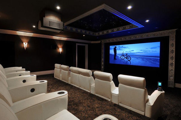 Traditional Home Theater by APW Custom Home Theatres