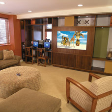 Eclectic Home Theater by Tech Tonic LLC