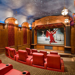 Inspiration for a timeless home theater remodel in Phoenix