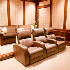 Contemporary Home Theater by Munger Interiors