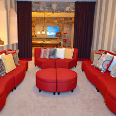 Eclectic Home Theater by Linda Tomky