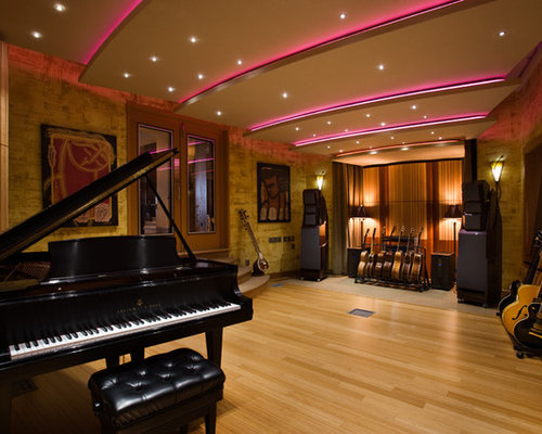 Admirable Music Studio Design Ideas Remodel Pictures Houzz Largest Home Design Picture Inspirations Pitcheantrous