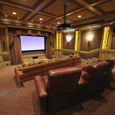 Traditional Home Theater by Muskoka Home Theatre