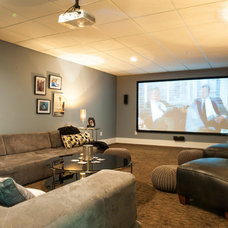Contemporary Home Theater by Mary Prince
