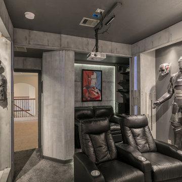 My Houzz: DIY Action-Packed Industrial Bunker Room in Texas